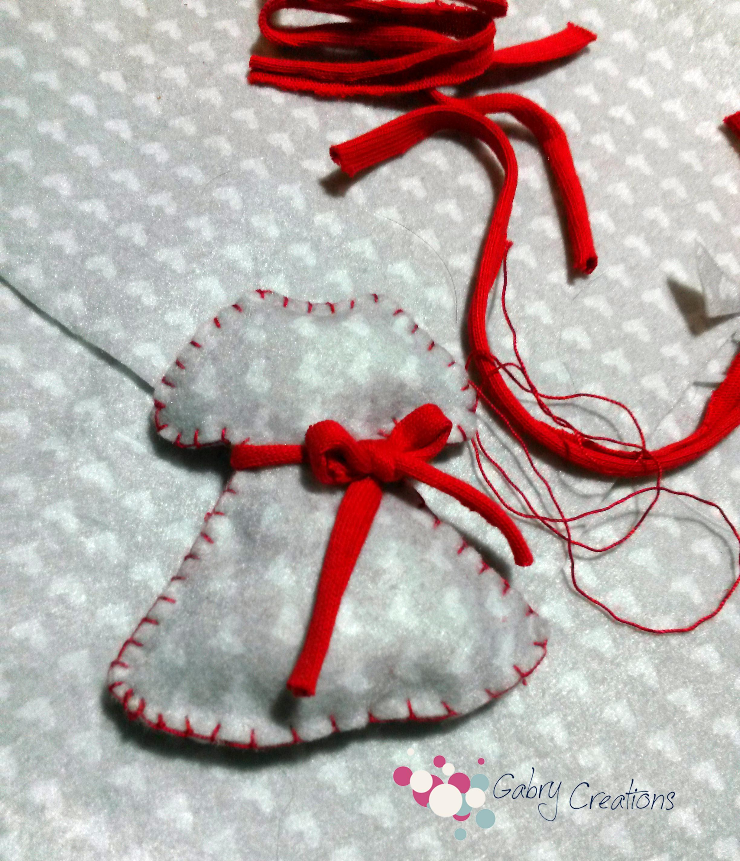 Vestitini di natale- idee per addobbare l'albero di Natale