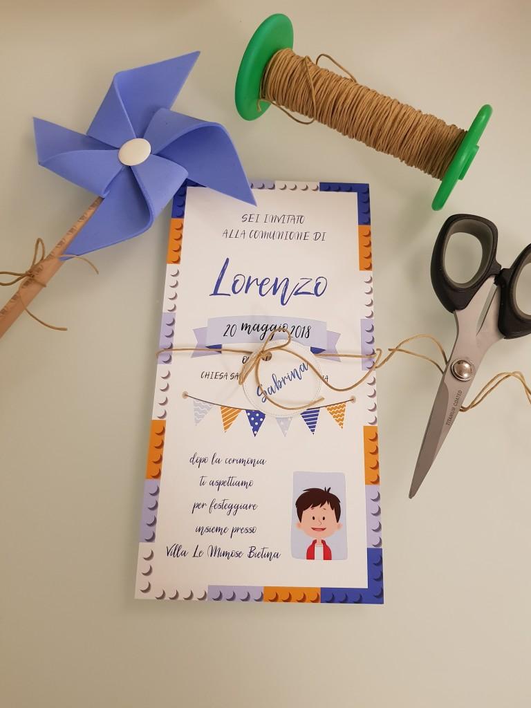 inivito comunione lorenzo